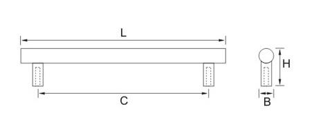 Ручка мебельная 4406