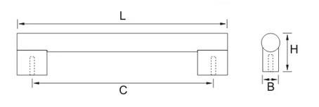 Ручка мебельная E718