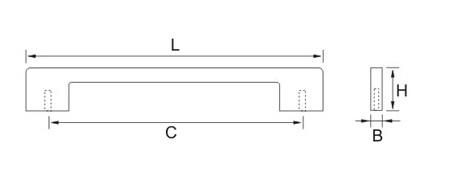 Ручка мебельная E749