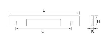 Ручка мебельная E751