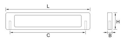 Ручка мебельная E753