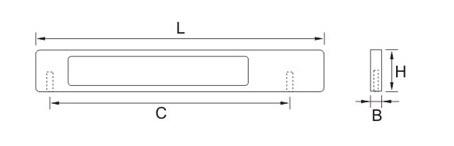 Ручка мебельная E754