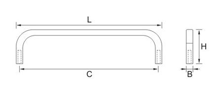 Ручка мебельная E778