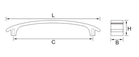Ручка мебельная E832