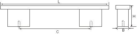 Ручка мебельная L544