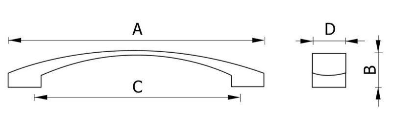 Ручка мебельная RC119