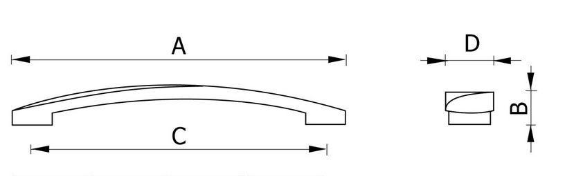 Ручка мебельная RС123