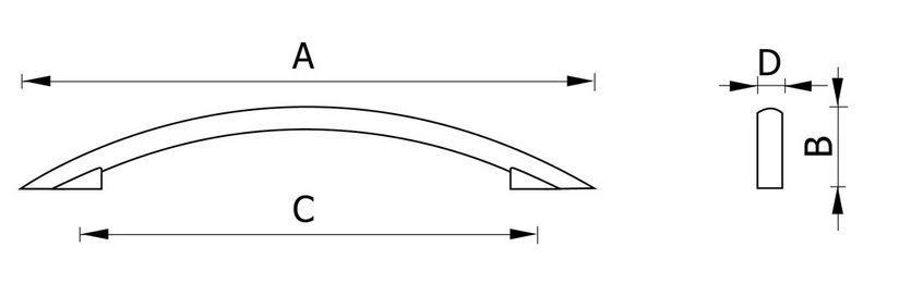 Ручка мебельная RH115