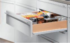 Роликовые направляющие для кухонных ящиков.