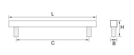 Ручка мебельная RQ196