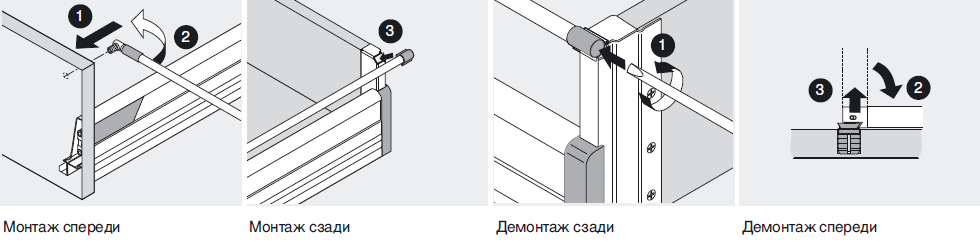 Установка TANDEMBOX D ящик под