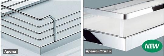 Дизайн полок для углового механизма.