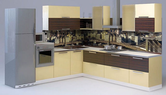 Кухня с фартуком SP-002