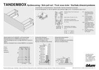 Монтаж и установка Tandembox BLUM под мойку.