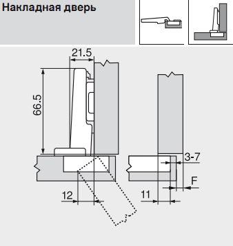 Петля CLIP top накл. с