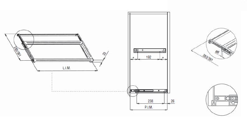 Схема установки сушки для посуды в шкаф