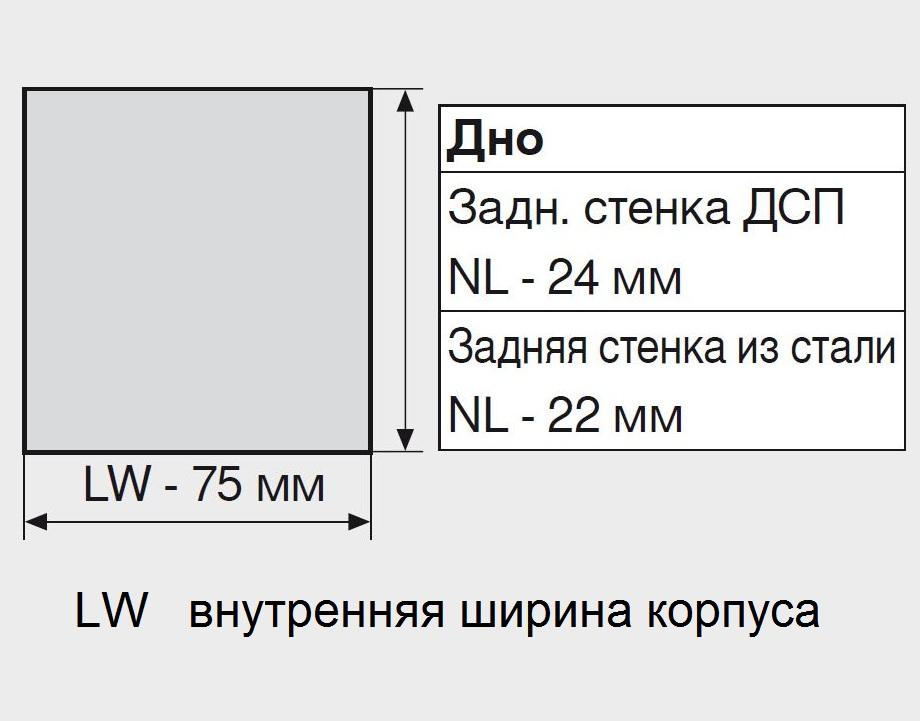 ящиков Тандембокс 500 мм.