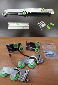 Доводчики и ролики для шкафа-купе