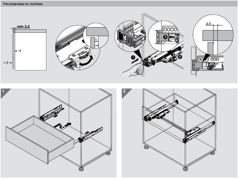 Blum мебельная фурнитура схема сборки